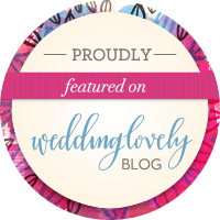featured on weddinglovely blog