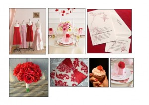 Red & Pink Design Board