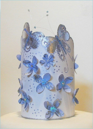 Silverblue cake topper