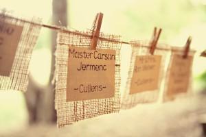 Rustic Hanging Names