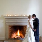 Bride & Groom at Bruisyard Hall