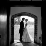 Bride &amp; Groom in Bruisyard Entrance