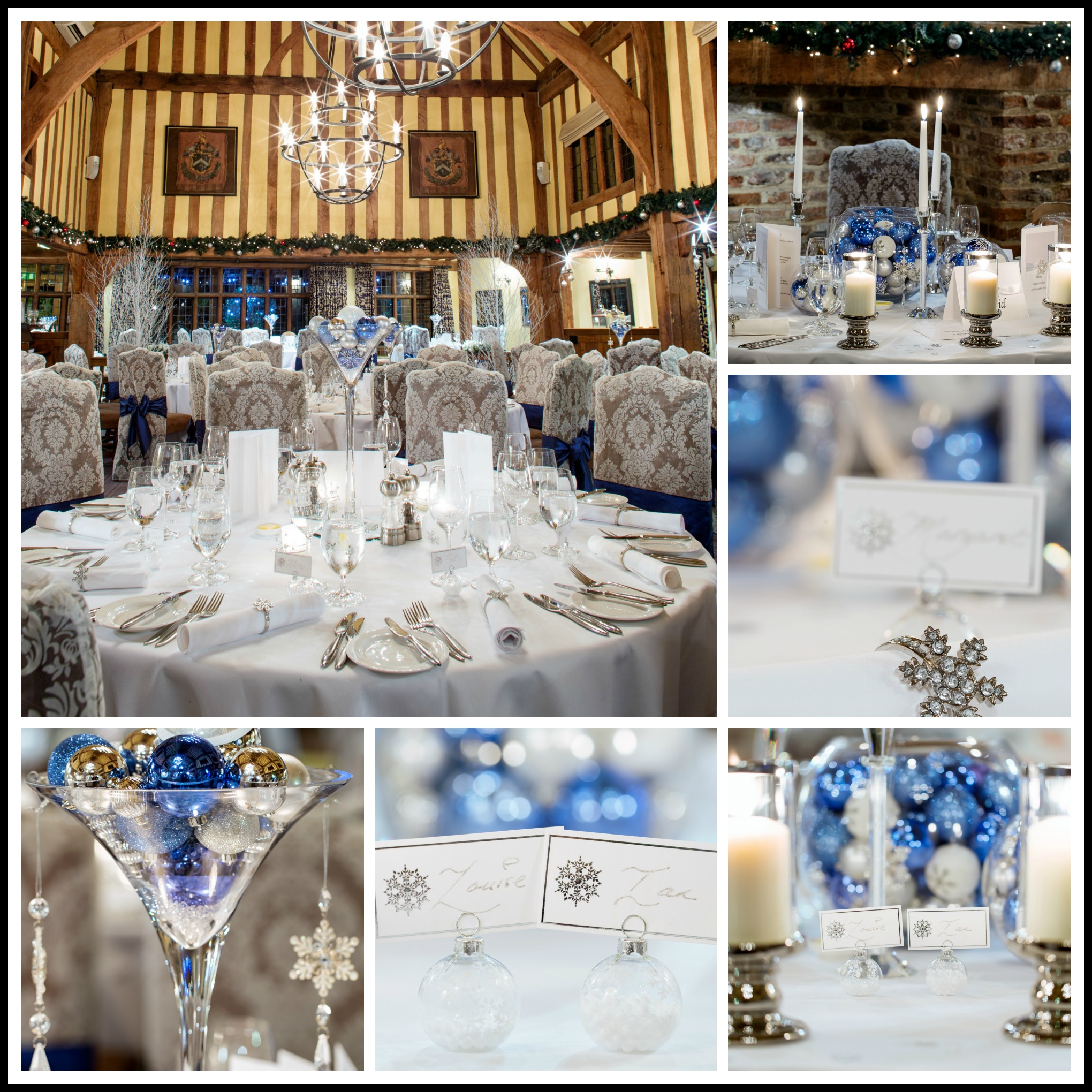 Winter wedding with snowflakes and baubles | Dream Occasions
