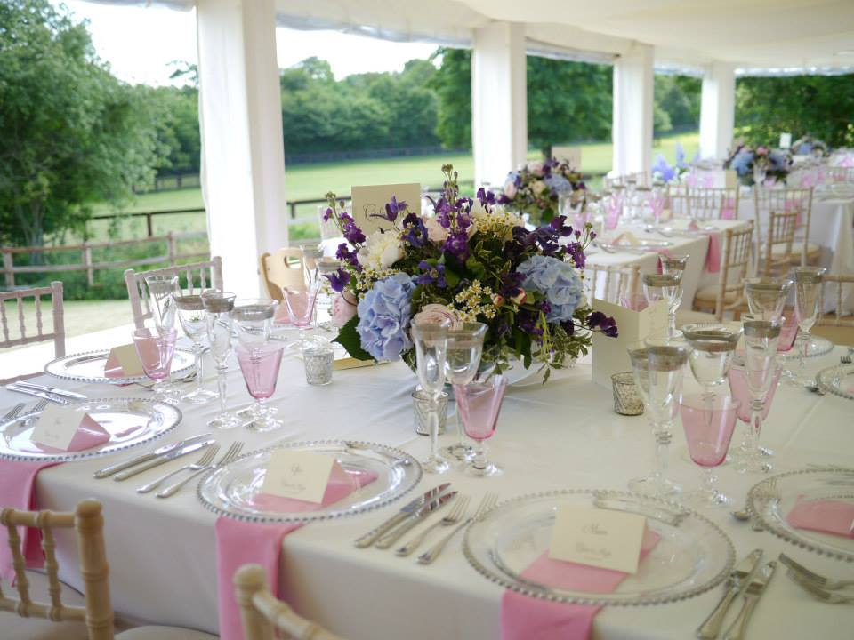 What goes into organising a marquee wedding?